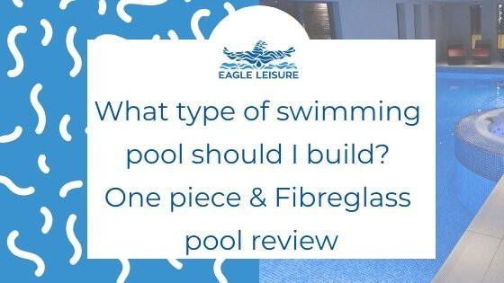 one piece and fibreglass pool