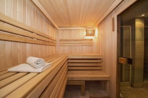 custom built sauna